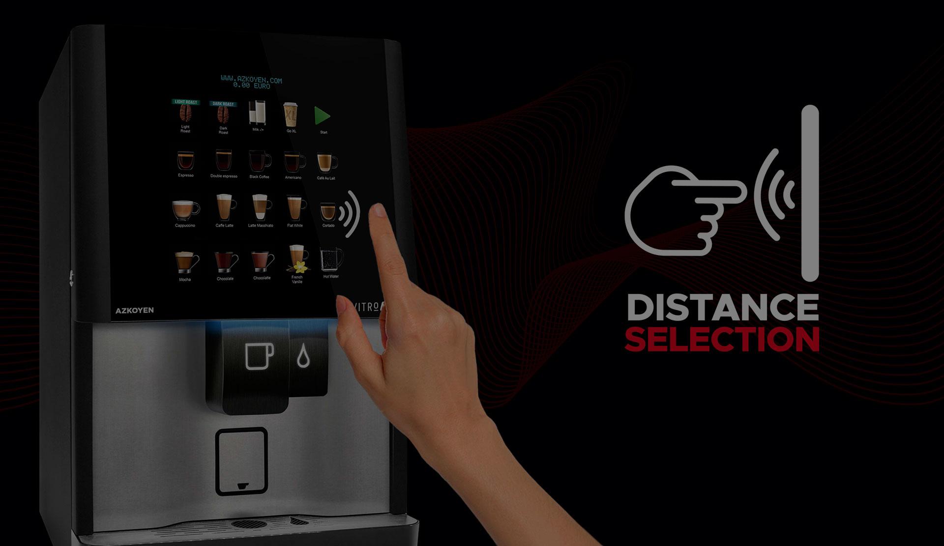 Azkoyen a déposé un brevet pour la technologie Distance Selection, qui permet de sélectionner les produits des distributeurs automatiques sans toucher les surfaces